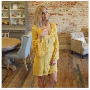 Mustard Lace Detail Dress
